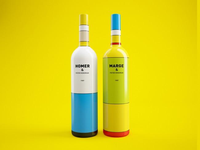 Bouteille-vin-Pietre-Mondrian