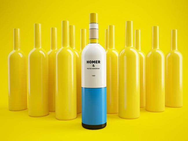 bouteille-vin-homer-simpson-mondrian