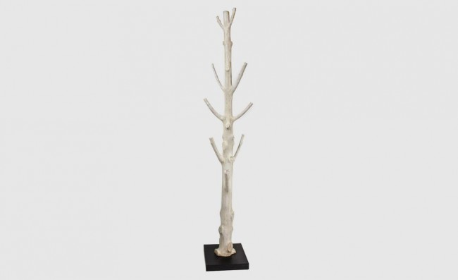 Tronc d 39 arbre transform en portemanteau design for Porte manteau branche