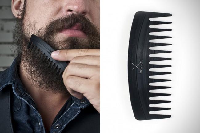 Peigne à barbe construit à partir de disques vinyles recyclés