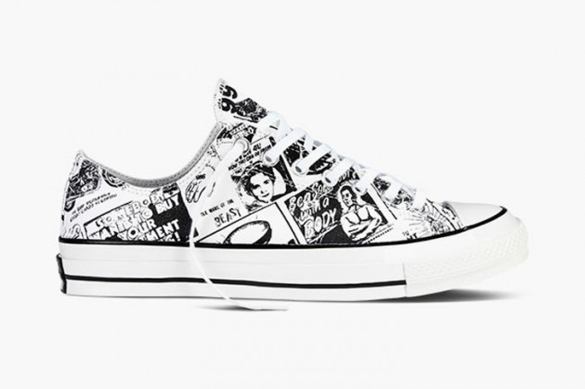 Converse All Star basses blanches Andy Warhol