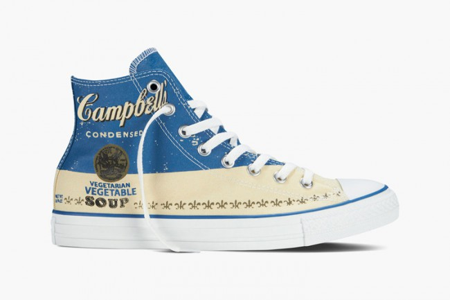 Converse All Star hautes bleu Andy Warhol