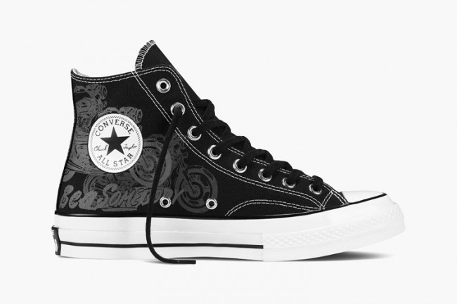Converse All Star hautes noirs Andy Warhol