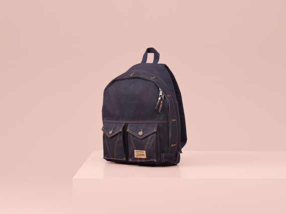 Sacs a dos en denim Eastpak Jean Paul Gaultier