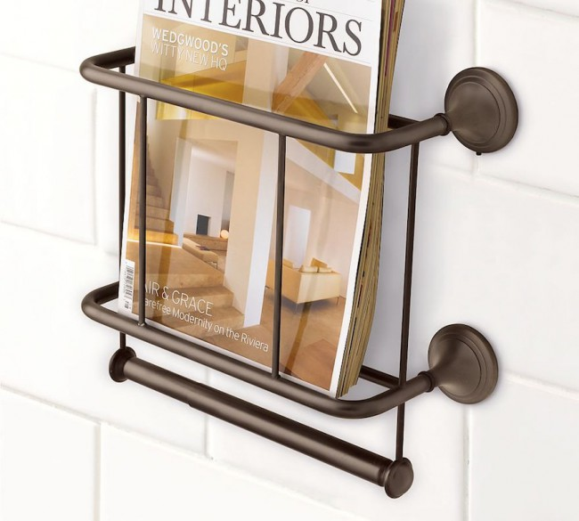 Porte-revues rustique bronze
