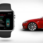 Application Tesla AppleWatch