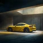 Porsche Cayman GT4 vue de cote