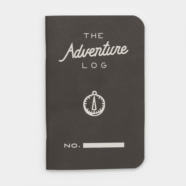 Carnet The Adventure Log gris