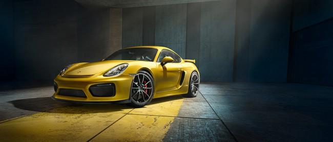 Porsche Cayman GT4 Jaune