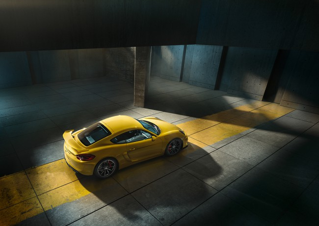 Porsche Cayman GT4 vue de dessus