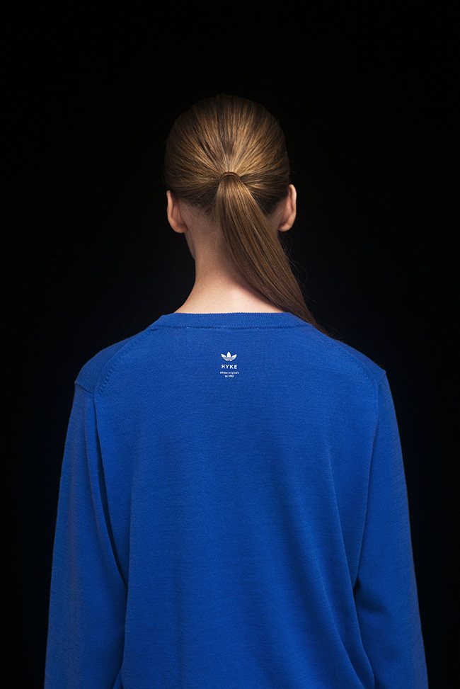 Pull bleu Adidas Hyke