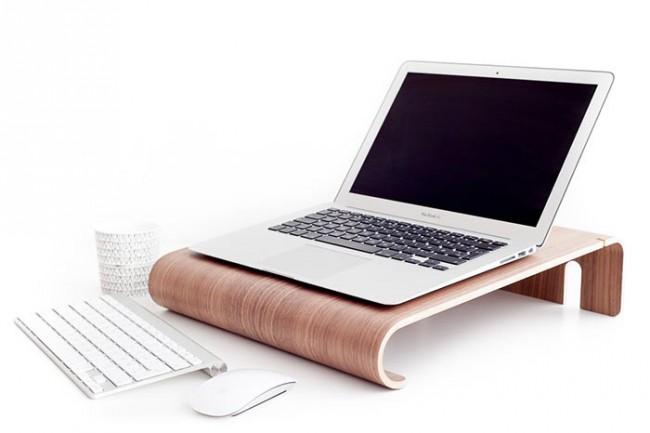 Stand en bois pour macbook