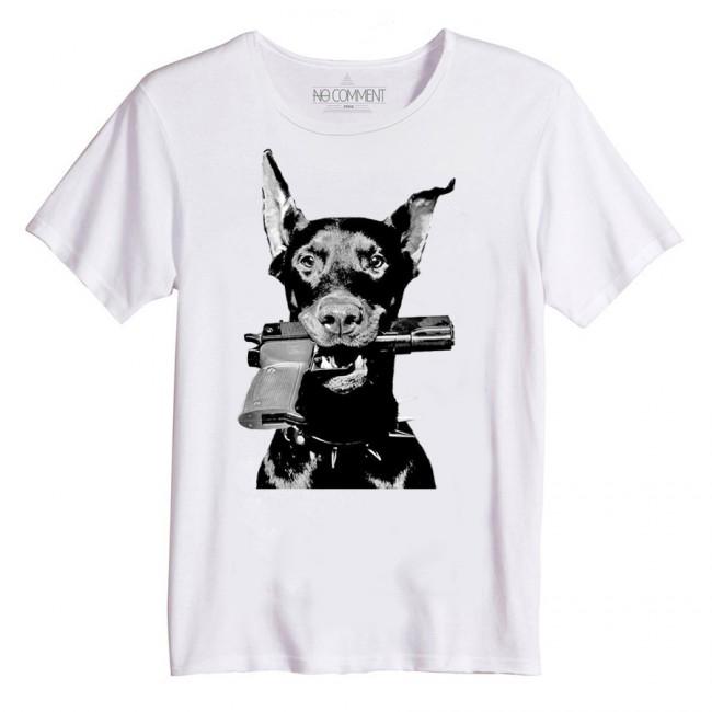 Tshirt NoComment dobermann