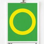 Affiche minimaliste Le seigneur des anneaux