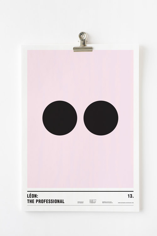 Affiche minimaliste Leon