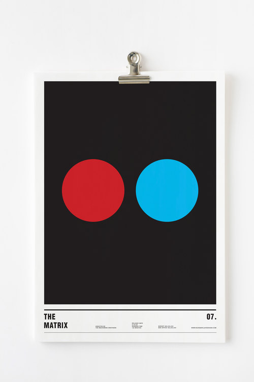 Affiche minimaliste Matrix