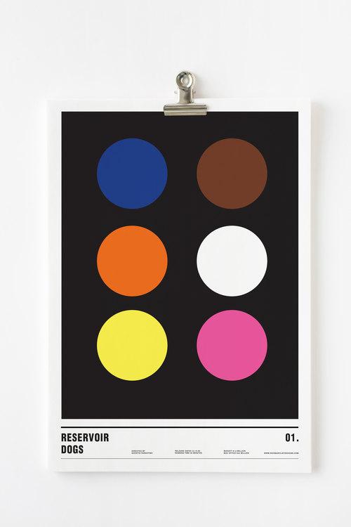Affiche minimaliste Reservoir Dogs