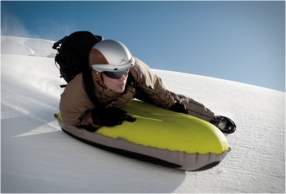 airboard luge gonflable jaune