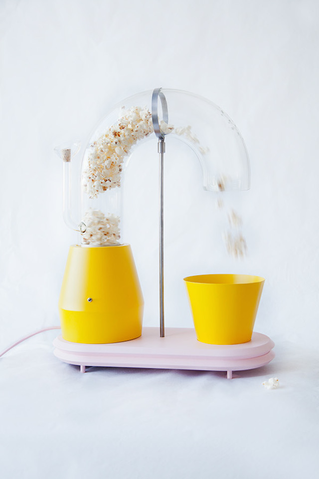 Machine popcorn en verre