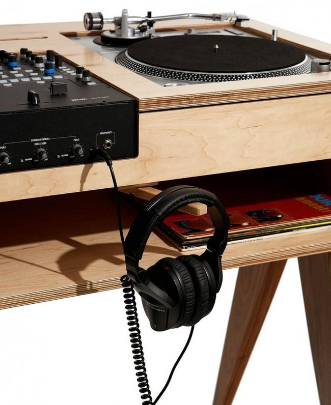Console de DJ en bois