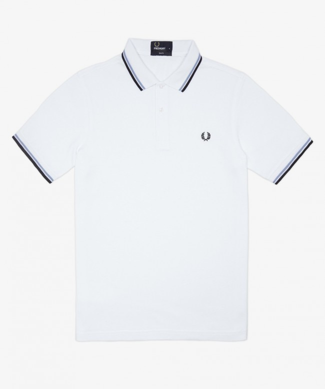 Polo Fred Perry Blanc Homme
