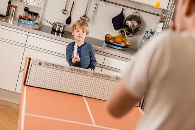 Table de ping pong en carton ecologique