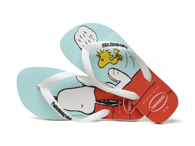Des tongs Havaianas à l'effigie de Snoopy