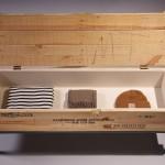 Banc en bois et métal pour loft
