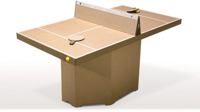une table de ping pong en carton pour 59. Black Bedroom Furniture Sets. Home Design Ideas