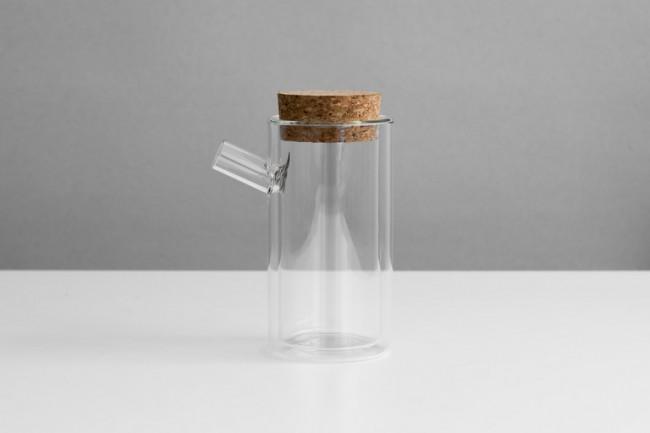 Théière minimaliste en verre