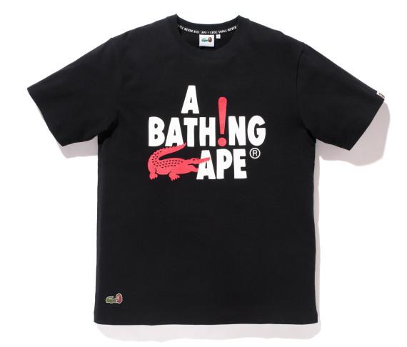 tshirt noir lacoste a bathing ape