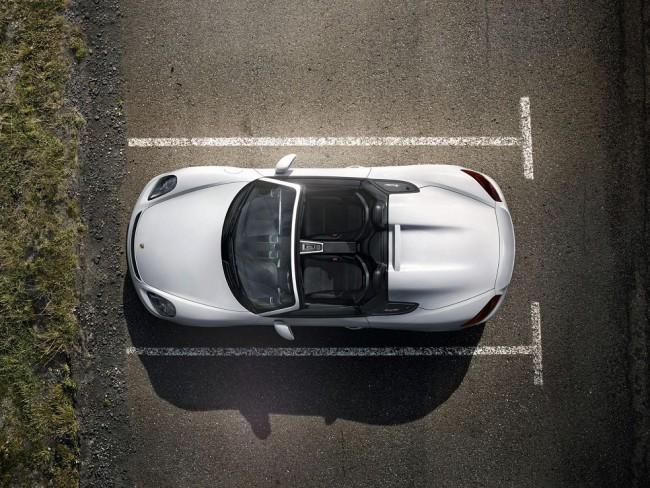 Porsche boxster spyder 2016 vue de dessus