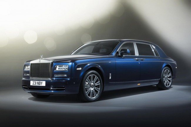 Rolls Royce Phantom Limelight Bleu
