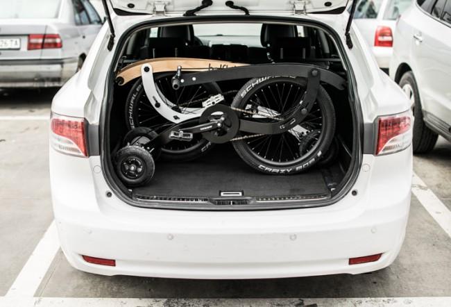 Vélo facile à ranger dans un coffre