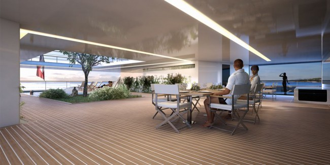Table de Salle à manger design sur yacht