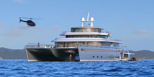 Yacht catamaran