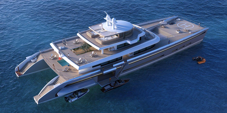 yacht de luxe design de 71 m tres de long. Black Bedroom Furniture Sets. Home Design Ideas