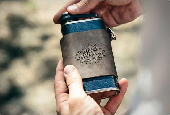 Flask métal et en cuir stanley