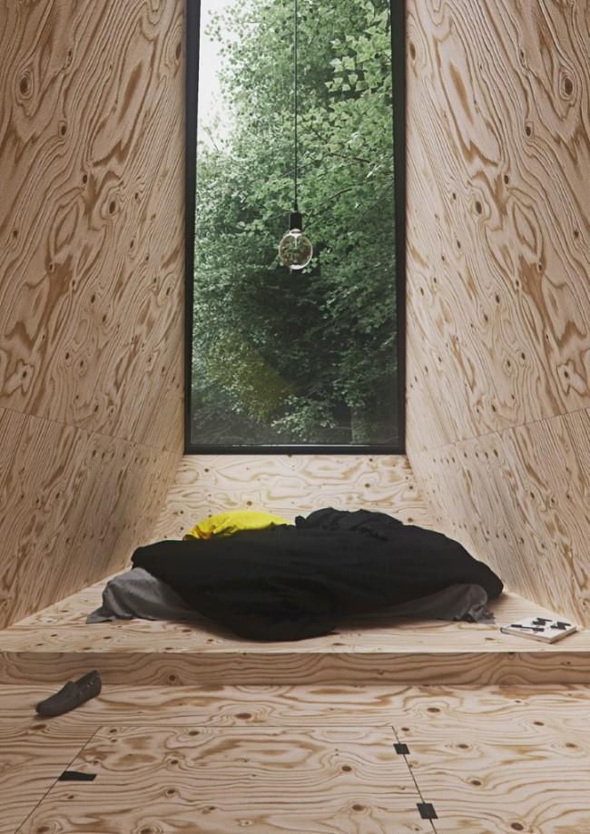 Chambre minimaliste chalet
