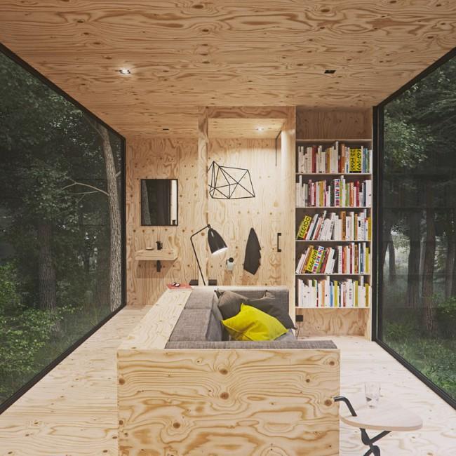 Intérieur chalet en bois