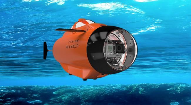 Seawolf sous marin GoPro