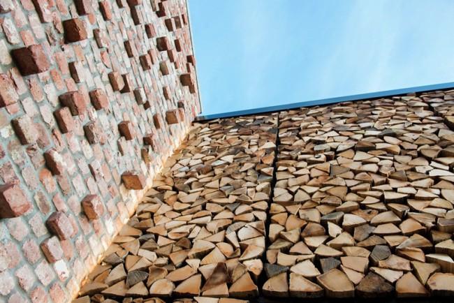 Mur buche de bois
