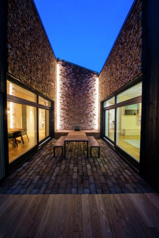 Patio maison moderne
