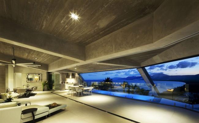 Villa plafond béton
