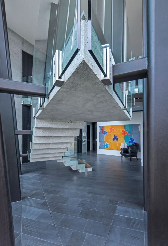 escalier design b ton arkko. Black Bedroom Furniture Sets. Home Design Ideas