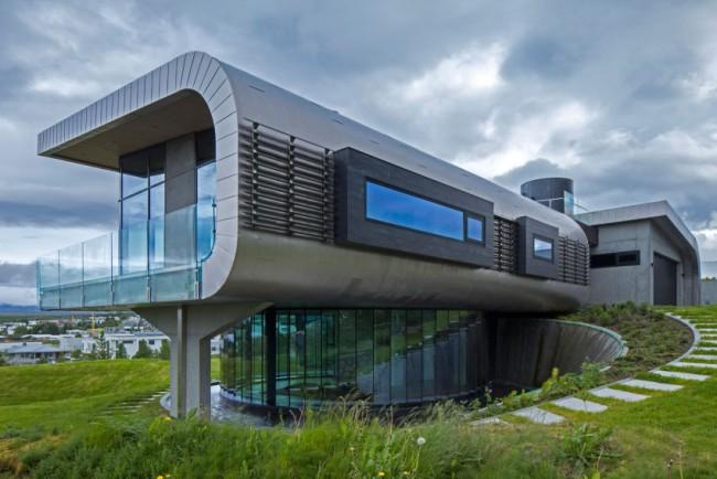 Maison béton verre acier