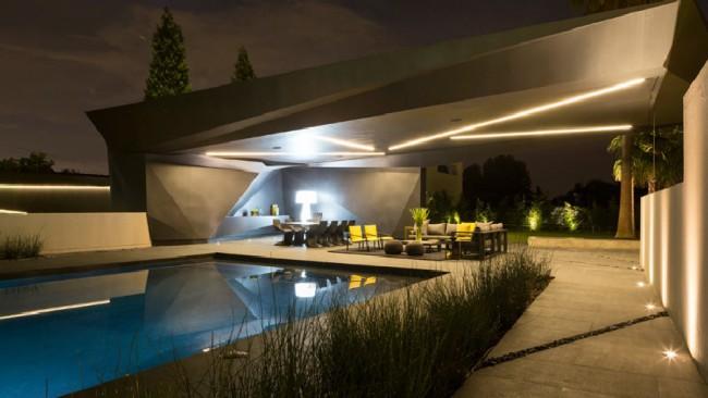 Piscine et poolhouse