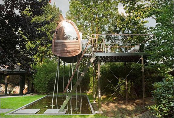 Cabane bois arbre Baumraum 6