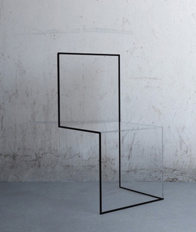chaise minimaliste transparente