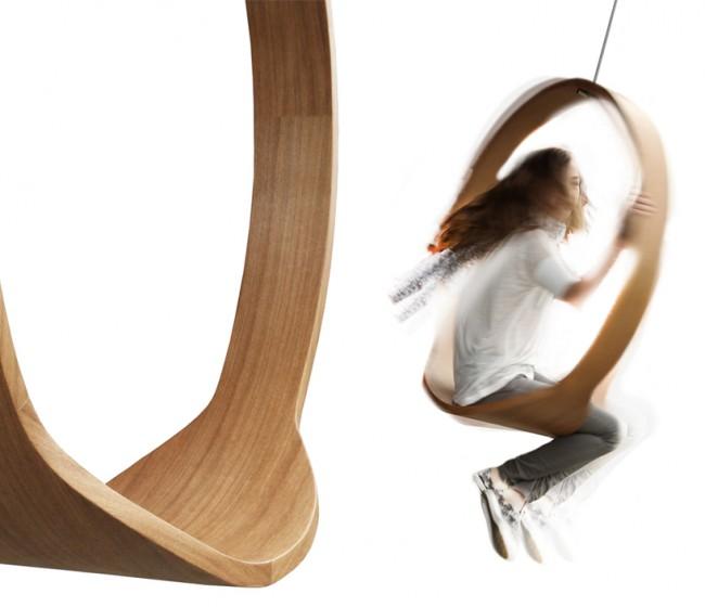 Rocking chair minimaliste cercle